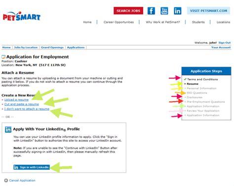 petsmart application career guide application review