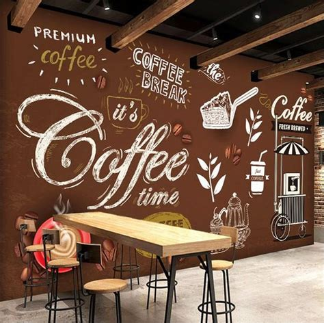 european style hand painted writing images coffee shop