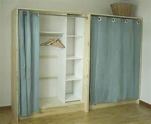 Dressing En Palette : dressing bois et lin esprit cabane ~ Melissatoandfro.com Idées de Décoration