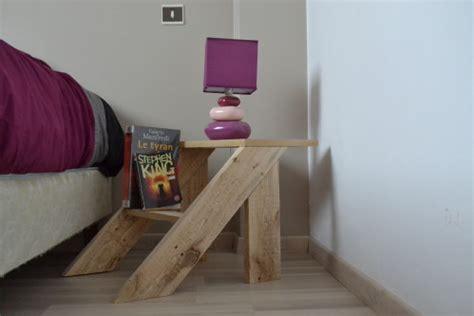 table de chevet en bois de palette mobilier bois fabrication de meuble 233 co design en bois de