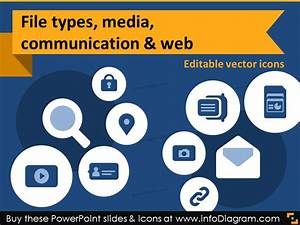 It Icons Document Type Report Media Chat Hyperlink Share Ppt Clipart