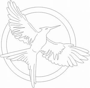 Mockingjay Pin - Free Coloring Pages