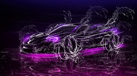 mclaren p super  water splashes car  el tony