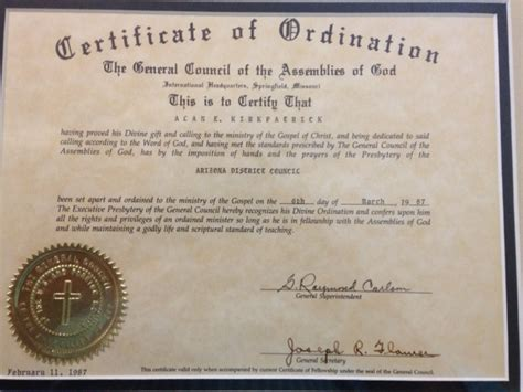 ordained minister posts