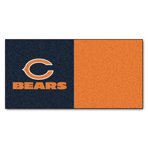 Trafficmaster Carpet Tiles Board Of Directors by Trafficmaster Nfl Chicago Bears Orange And Blue 18