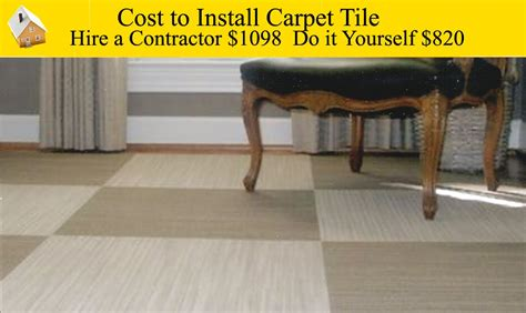 Cost To Install Carpet Tiles Also How Much In 3 Bedrooms