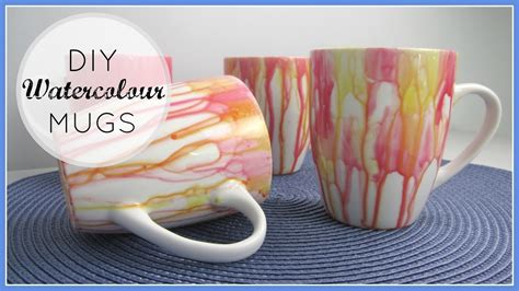 How To Decorate A Coffee Mug - diy decor gifts watercolour mugs
