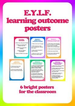 posters programming early years learning framework