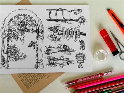 elfen tuer basteln diy mit malvorlage handmade kultur