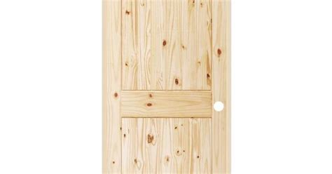 Steves & Sons 2-panel Round Top Plank Unfinished Knotty