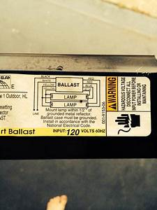 2 T12 Ballasts To 1 T8 Ballast Running 4 Fluorescent Bulbs