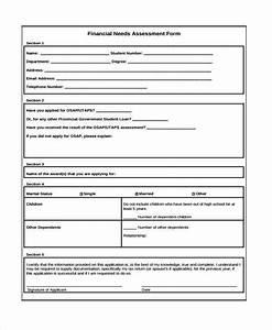 7 financial assessment form samples free sample With financial assessment template