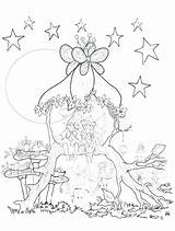 Coloring Tree Pages Fairy Treehouse Magic Annie Getcolorings Printable sketch template