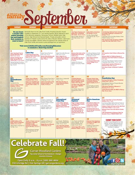 rock familys september event calendar