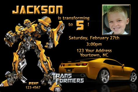 transformers party invitation templates