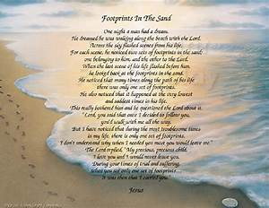 The Footprints in the Sand poem - Inspirational Print ...