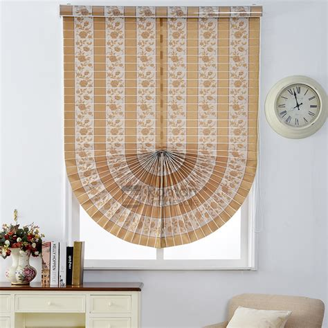 fan shaped window shades rustic fan shaped jacquard brown polyester thermal roman