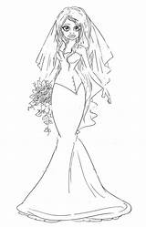 Coloring Bride Saturated Cannery sketch template