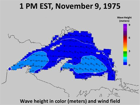 fitzgerald edmund waves sink did shipwreck storm rogue sank map ss weather lake 1975 sunk november caused 10th theories through