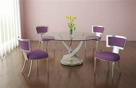 glass table with purple dining room chair home