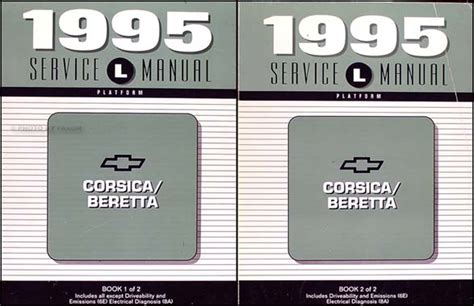 automotive service manuals 1995 chevrolet beretta user handbook 1995 chevy corsica beretta repair shop manual original set