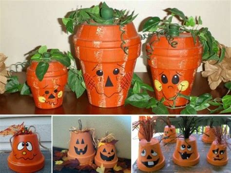 diy halloween clay pots pictures   images