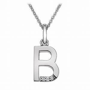 hot diamonds micro letter b pendant dp402 With letter b pendant