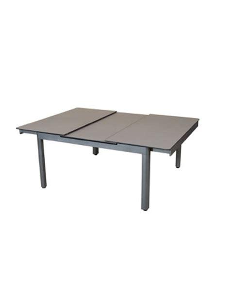 table carr 233 e extensible 146 206x146 aluminium gris espace hpl c 233 ramique grise