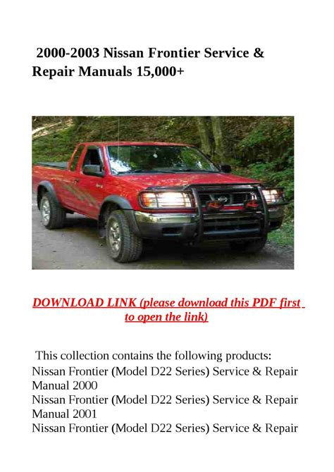 free auto repair manuals 2000 nissan frontier parental controls 2000 2003 nissan frontier service repair manuals 15 000 by dale issuu