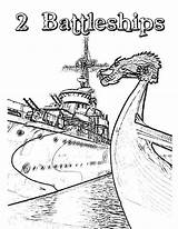 Coloring Carrier Battleship Aircraft Ship sketch template