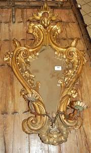 Miroir Baroque Doré : miroir baroque en bois dor sculpt applique deux bras d ~ Teatrodelosmanantiales.com Idées de Décoration