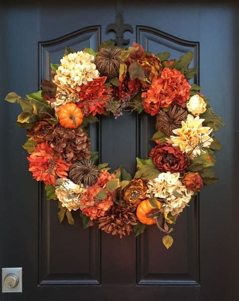 a fall wreath autumn wreaths fall hydrangea wreath fall wreaths by twoinspireyou holidays pinterest