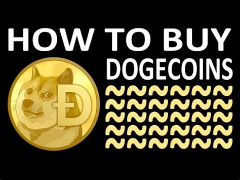 How To Buy Dogecoin  Youtube