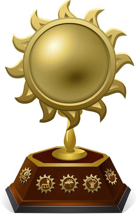 trophy  golden sun photo prop template