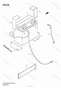 Suzuki Motorcycle 2009 Oem Parts Diagram For Battery