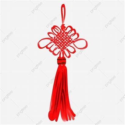 Knot Chinese Rope Ink Tassel Antique Clipart