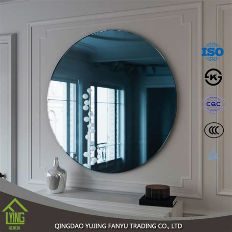 polished edges colored mirror glass decorative