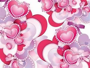 Pretty Hearts & Diamonds Vector Background - WeLoveSoLo