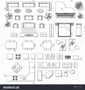Set top view interior icon design stock vector 625491731 for Interior design kitchen symbols
