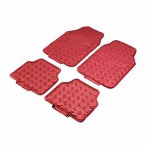 tapis auto tuning rouge pas cher en pvc aspect metal majorque With tapis auto rouge