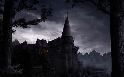 Castle Spooky Gothic Creepy Dark Wallpapers Scary