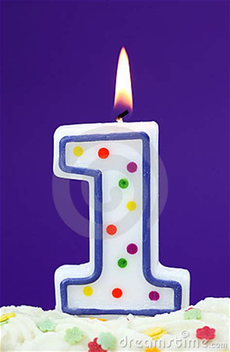 number  birthday candle stock photo image
