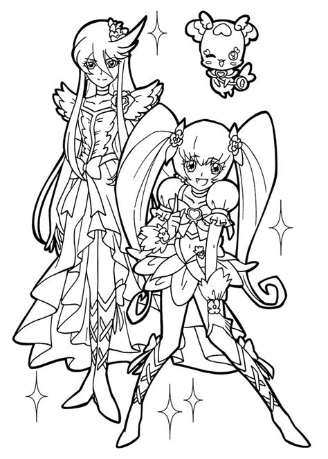 pretty coloring pages from pretty cure coloring pages for