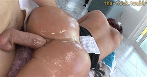 Big Oiled Ass Gets Proper Anal Drilling Greasedbabes