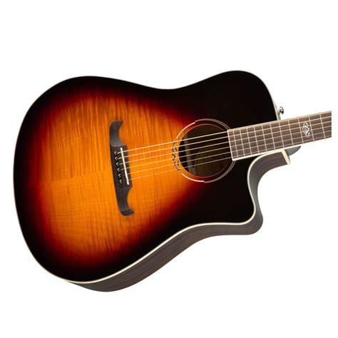 guitar colors fender t 300ce electro acoustic 3 color sunburst