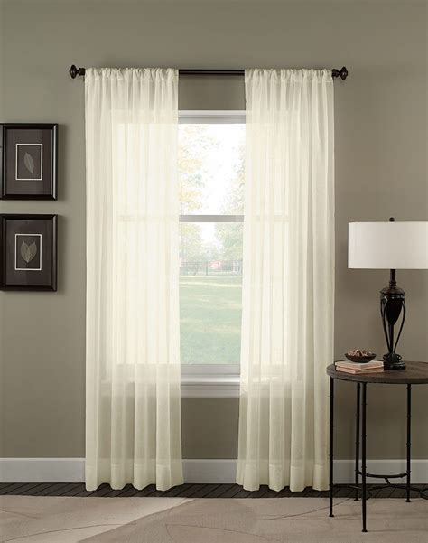 crinkle voile sheer length curtain panel