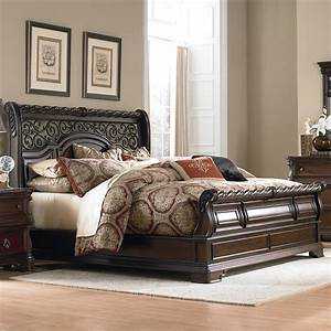 Liberty furniture arbor place 575 br ksl king traditional for King sleigh bed bedroom sets