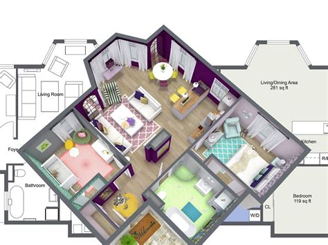 Home Design Drawing by Interior Design Roomsketcher