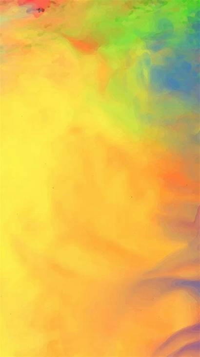 Iphone Orange Atmosphere Peach Acrylic Paint Sky
