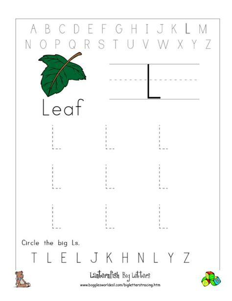 letter  alphabet worksheets